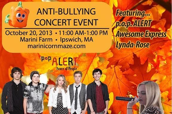 p.o.p. Alert is coming to Marini Farm in Ipswich to share their views on bullyin