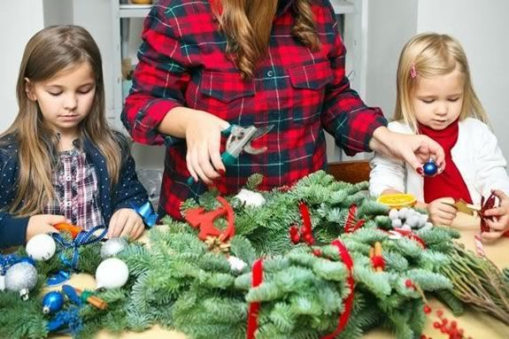 Kids will learn how to make holiday wreaths at Marini Farm in Ipswich MA!