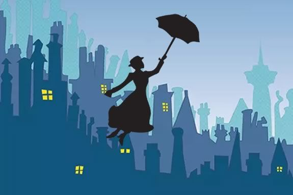 Actress Carole Finn brings the enchanting story of Mary Poppins to life for kids at Sawyer Free Library in Gloucester Massachusetts