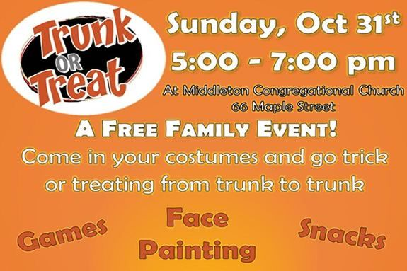 Trunk or Treat at the Middleton Massachusetts Congregational Church