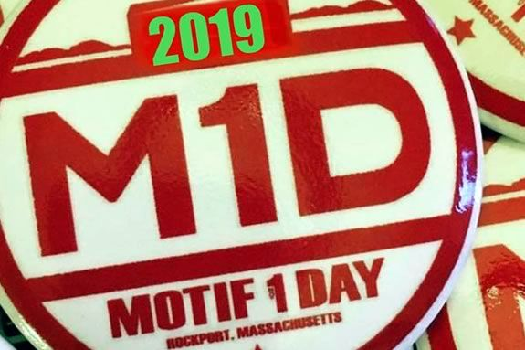 Sidewalk Chalk art at Motif #1 Day in Rockport Massachusetts - a day of family fun! Image: Motif 1 Day Button