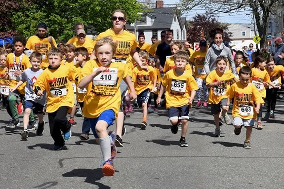 The Motif #1 5k and kids fun run takes place on Motif #1 Day in Rockport, Massachusetts