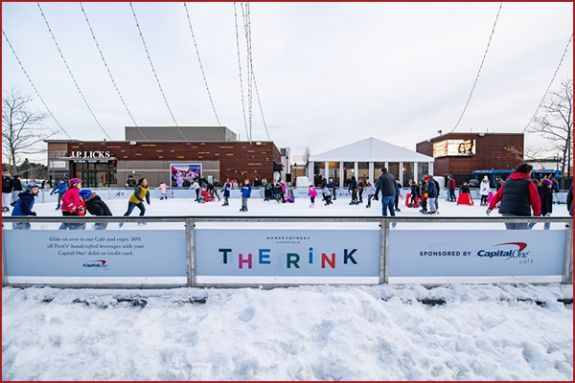 Outdoor Ice Skating and Warming Tent at MarketStreet Lynnfield