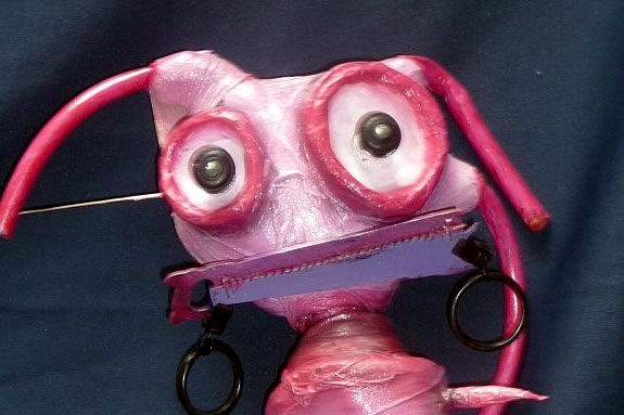 Mudeye Puppets are fun and made with recycled materials!