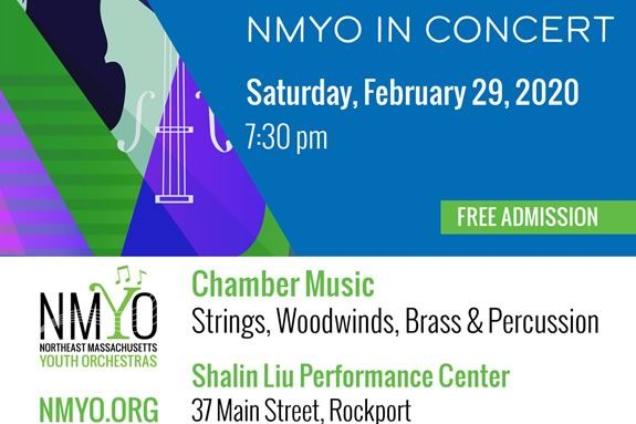 Northeast Massachusetts NMYO's Chamber Music Concert at the Shalin Liu Performance Center in Rockport Massachusetts