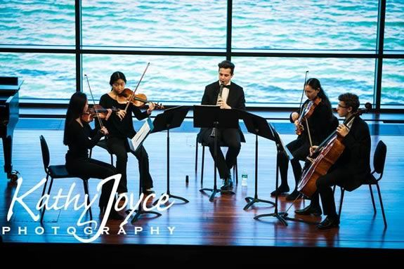 Northeast Massachusetts NMYO's Honors Chamber Ensemble performing at the Shalin Liu performing arts center in Rockport MA