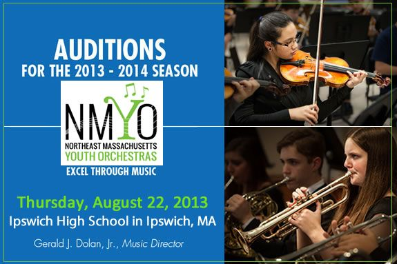 Northeast Massachusetts Youth Orchestras: Excel Through Music Auditions for the