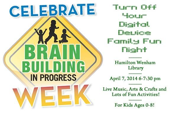 Turn off your digital devices and bring the family to the library for no-screen