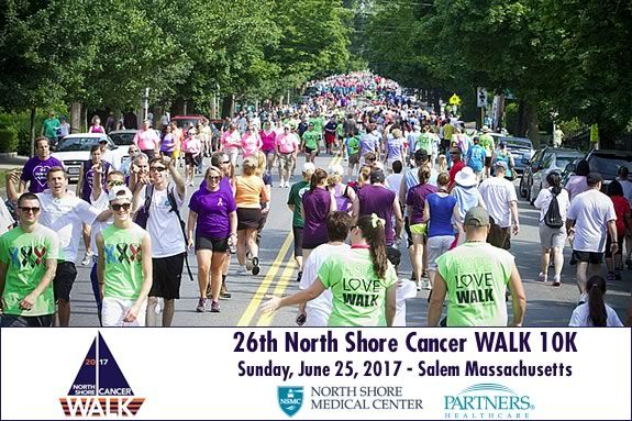 Come walk to raise funds to fight cancer in downtown Salem Massachusetts! Sponsored by North Shore Medical Center and Partners.org