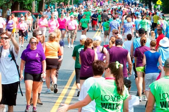 North Shore Cancer Walk fundraiser 10k Walk in Salem Massachusetts