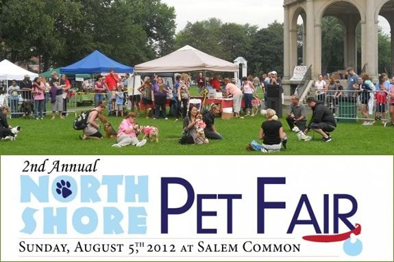 The North Shore Pet Fair will be held on Salem Common this August!