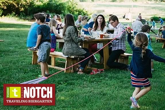 Come to the Notch Brewery Biergarten at the Trustees of Reservations' Stevens Coolidge Estate in North Andover