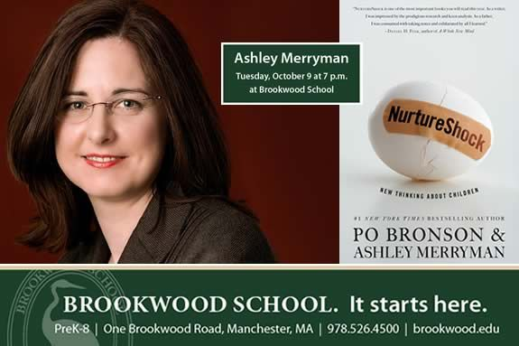 Brookwood School 4 to 14 Speaker Series Presents  Nurture Shock co-author Ashley
