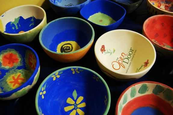 Proceeds from the Open Door Empty Bowl dinner benefit community programs.