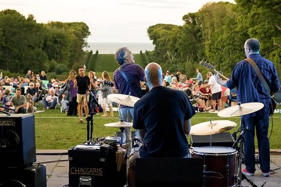Orville Giddings brings boogie blues music to Castle Hill on the Crane Estate in this Thursday evening concert. Photo ©David Stone