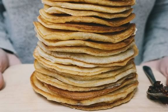 Enjoy a pancake breakfast with local maple syrup at Waldorf School at Moraine Farm in Beverly Massachusetts