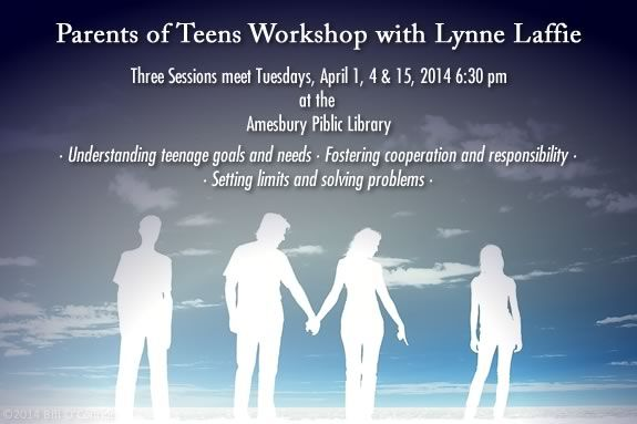 Parent of Teen Workshop at Amesbury Public Library.