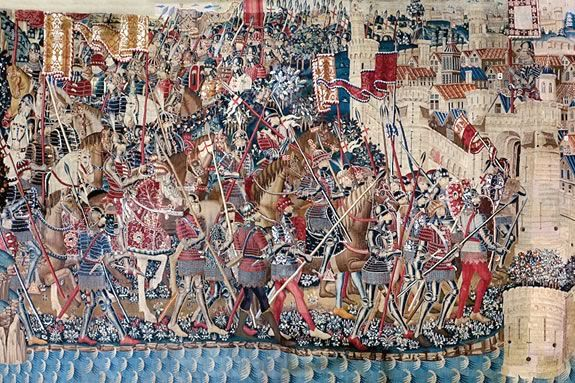Come to PEM to see a massive medieval tapestry thatover 36 feet long!