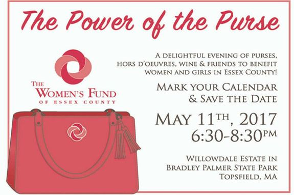 The Power of the Purse fundaraiser at the Willowdale Estate in Topsfield promises to be the best ladies night out of the Spring in Essex County!