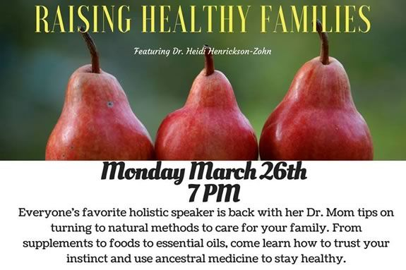 Beverly MA Independent School.Raising Healthy Families Workshop at Moraine Farm