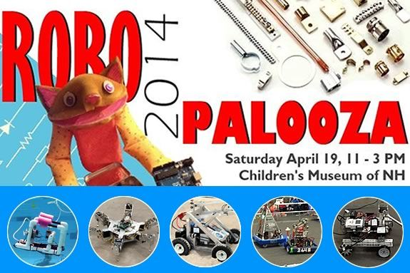 Come see Robots made by kids and teens at the Children's Museum of NH!