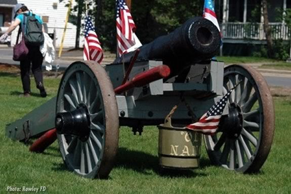 """The Rowley Town Cannon - """"Old Nancy"""".  Photo: Rowley Fire Department"""