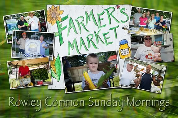 Rowley Farmers Market - a seasonal open-air market every Sunday July-September on Rowley Common