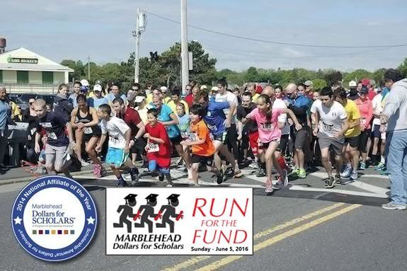 Run for the Fund 5k fundraiser charity race in Marblehead! Benfitting Marblehead Dollars for Scholars