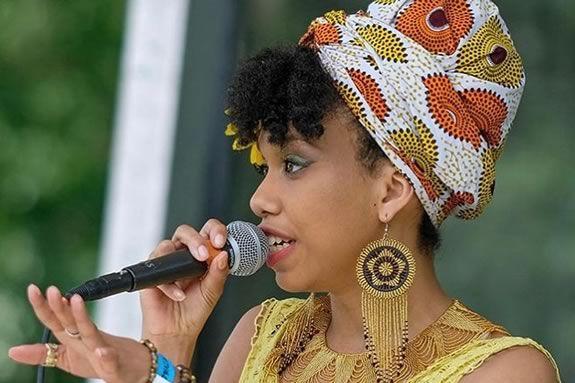 Salem Jazz & Soul Festival, Berklee Summer Series Concert featuring Safia Leslie in Salem Massachusetts - Salem Willows.