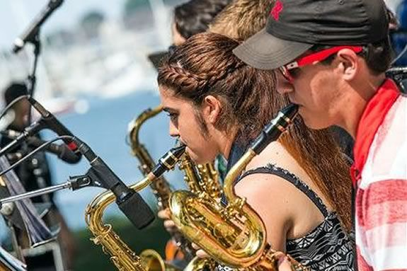 Salem Community Concert Band & Community Jazz Band Salem Heritage Days at Salem Willows Massachusetts