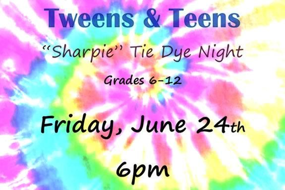 Teens and Tweens are invited top make their own sharpie tie dyes at the TOHP Library in Essex Ma!