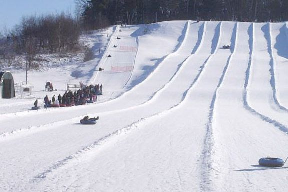 Snow Tubing at Amesbury Sports Park offers outdoor family fun