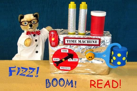 Sparky's Puppets Time Machine at Amesbury Library