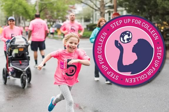 The Step up for Colleen 5k is a memorial fundraiser in memory of Colleen Ritzer
