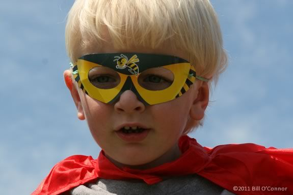 Kids are encouraged to dress in costume for the Super Hero Rock Gym Celebration!