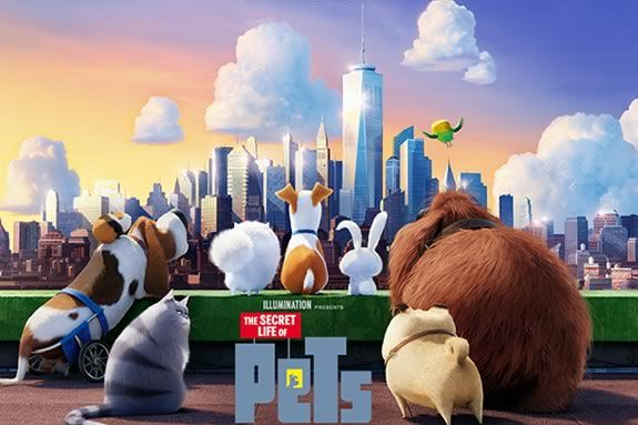 Come see 'The Secret Life of Pets' on the water front in Newburyport with your family.