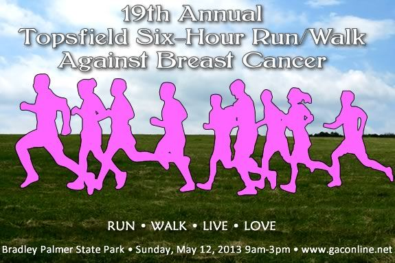 19th Annual - Topsfield Six-Hour Run/Walk against Breast Cancer!