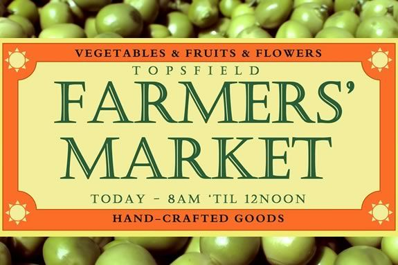 Find fresh produce grown locally on the North Shore at the Topsfield Farmers Mkt