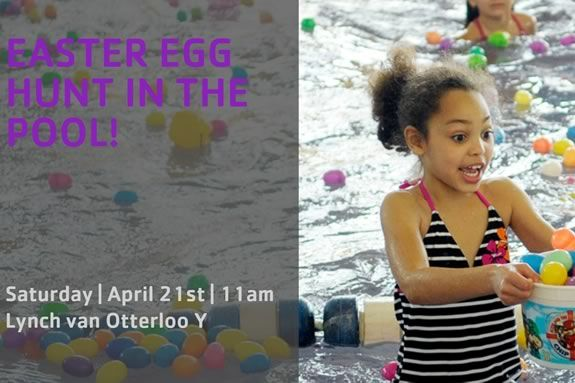 Van Otterloo YMCA in Marblehead hosts an Easter Egg hunt in their pool!