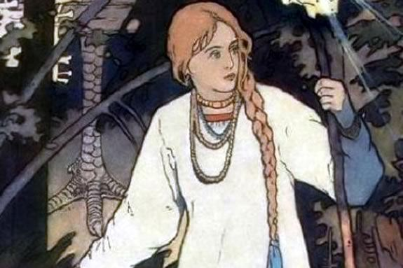 Vasilisa the Beatiful by Ivan Bilibin 1899