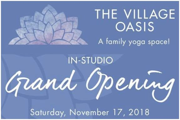 Family Yoga at The Village Oasis Family-Fun Grand Opening in Beverly MA