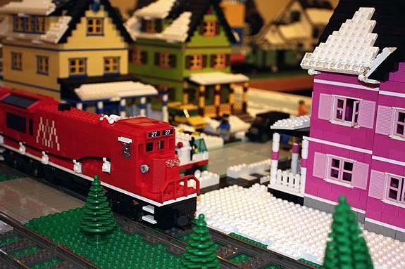 The Lego Train Returns to Wenham Museum 2019 designed with the highest degree of precision by the New England Lego Users Group