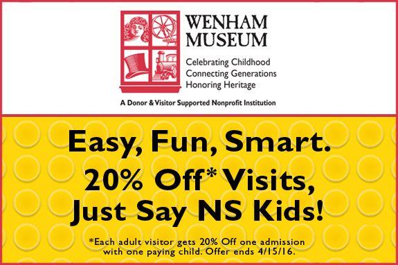 Discount at Wenham Museum 20% off