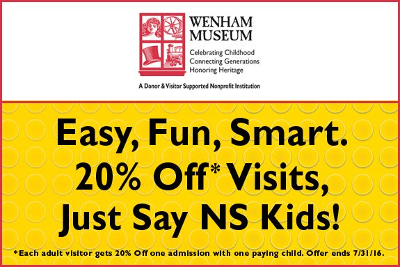 Wenham Museum discounts and promo code