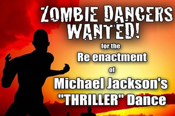 Zombie Dancers wanted for a performance of Michael Jackson 'Thriller' in Salem!