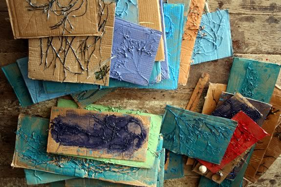Participants will crerate collograph 'blocks' used for printing on textiles