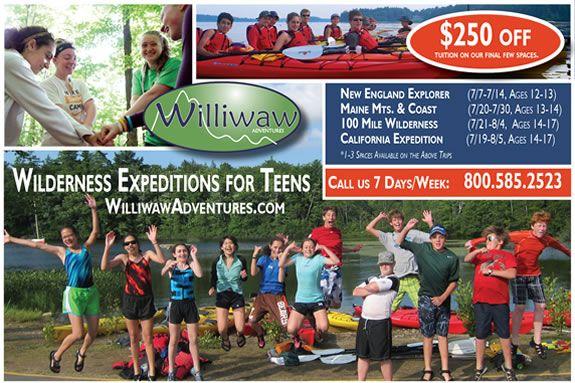 Williwaw Adventures is a wilderness travel program for ages 12-17+ (grouped by a