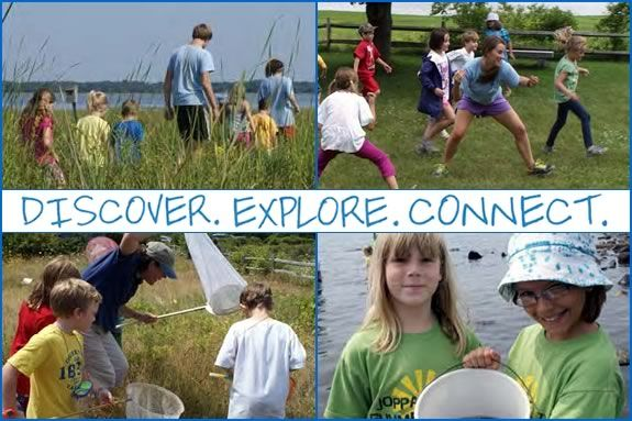Mass Audubon full and half day programs for kids ages 6-12 at Joppa Flats Center