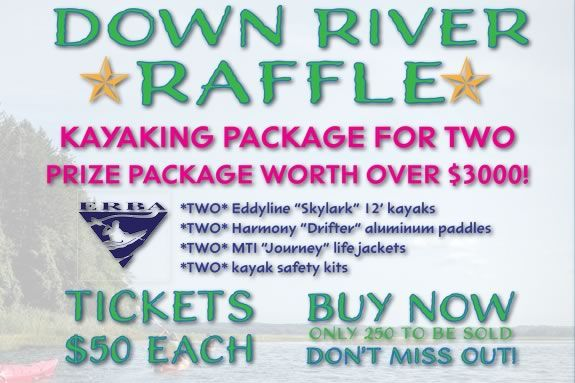 You could win two kayaks and gear worth over $3k in this benefit raffle for the Essex Elementary PTO