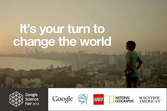 The Google Science Fairis a gloabal competition for kids ages 13-18